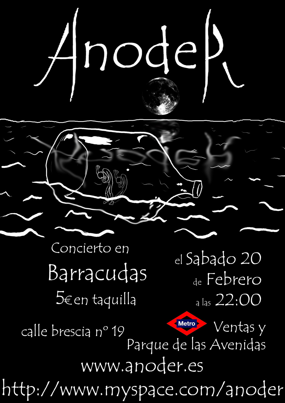 Concierto Anoder Sala Barracudas 20 Feb 2010 22 hh